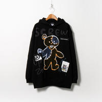 Hand Painted Over Hoody / Black / No.95