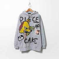 Hand Painted Over Hoody / Gray / No.93