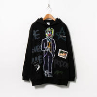 Hand Painted Over Hoody / Black / No.61