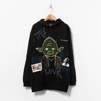 Hand Painted Over Hoody / Black / No.78