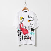 Hand Painted T-sh / White / No.131
