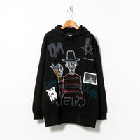 Hand Painted Over Hoody / Black / No.86