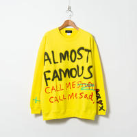 Spray Paint Sweat shirt / Yellow / No.1