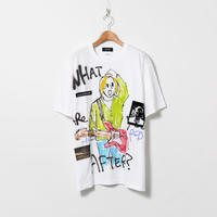Hand Painted T-sh / White / No.135
