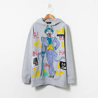 Hand Painted Over Hoody / Gray / No.55