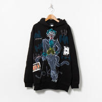 Hand Painted Over Hoody / Black / No.80
