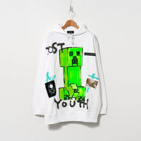 Hand Painted Over Hoody / White / No.106