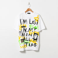Hand Painted T-sh / White / No.154