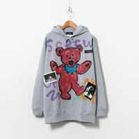 Hand Painted Over Hoody / Gray / No.99