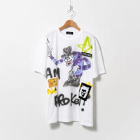 Hand Painted T-sh / White / No.124