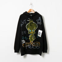 Hand Painted Over Hoody / Black / No.22
