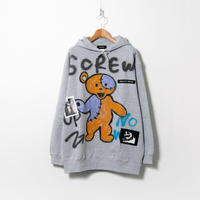 Hand Painted Over Hoody / Gray / No.92