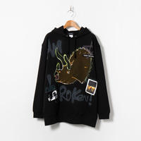 Hand Painted Over Hoody / Black / No.63