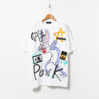 Hand Painted T-sh / White / No.86