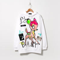 Hand Painted Over Hoody / White / No.104