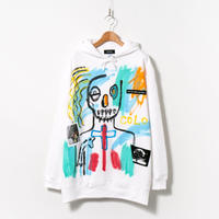 Hand Painted Over Hoody / White / No.84