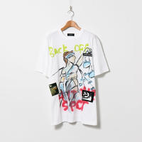 Hand Painted T-sh / White / No.143