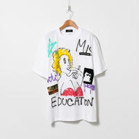 Hand Painted T-sh / White / No.134