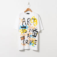 Hand Painted T-sh / White / No.128