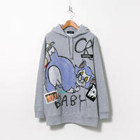 Hand Painted Over Hoody / Gray / No.72