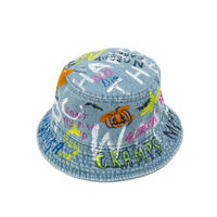 【納期:約1週間】Hand Painted Hat / No.3