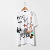 Hand Painted T-sh / White / No.132