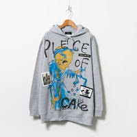 Hand Painted Over Hoody / Gray / No.82