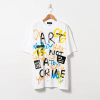 Hand Painted T-sh / White / No.96