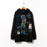 Hand Painted Over Hoody / Black / No.76