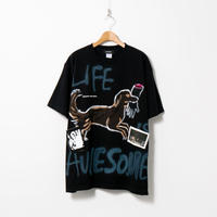 【納期:約1週間】Hand Painted T-sh / Black / No.165