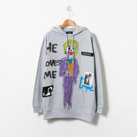 Hand Painted Over Hoody / Gray / No.27