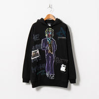 Hand Painted Over Hoody / Black / No.37