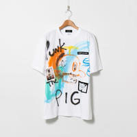 Hand Painted T-sh / White / No.138