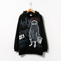 Hand Painted Over Hoody / Black / No.75