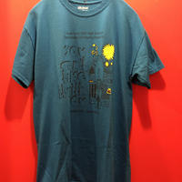 【USED 古着】プリントTシャツ ブルー 青 used0005