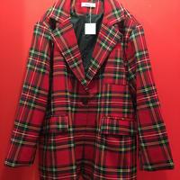 タータンチェック1Bジャケット レッド 赤 tb-190809-3