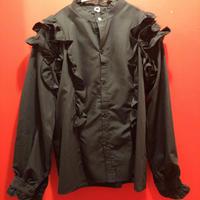 ブラックフリルシャツ tb-190902-12