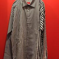 柄違いストライプシャツジャケット シャケット tb-190808-12