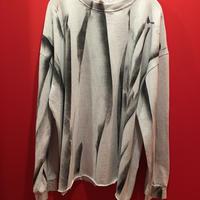 ペイント柄プリント オーバーサイズ長袖Tシャツ tb-190902-50
