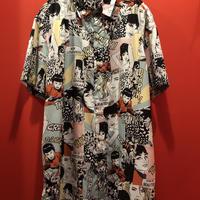 アメコミ風プリントシャツ tb-190629-14