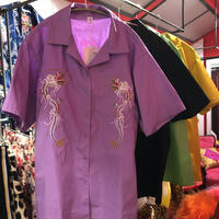 ドラゴン刺繍 スカシャツ tb-190501-20