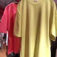 無地ネオンカラー オーバーサイズTシャツ sl0001