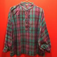 【USED 古着】オーバーサイズ長袖チェックプルオーバーシャツ 1482901252-6