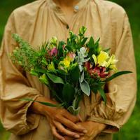 5月30日片桐花卉園直送Thank you bouquet!(ヘアアクセサリー付き)