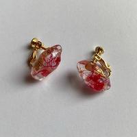 【bijou series】bijou earrings (wave red)