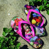 """flower trip"" beach sandals(PINK)"