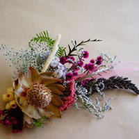 "【Summer Museum】dryflower hair piece ""magenta"""