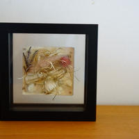 flower flame square S (beige pink)