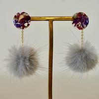 "Swaying fur pierce(earrings) ""Lapei loja flower"""