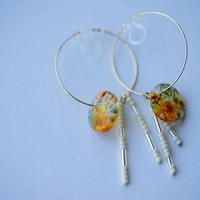 "【Summer Museum】hoop earring ""honey"""